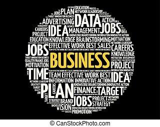 collage, parola, affari, nuvola