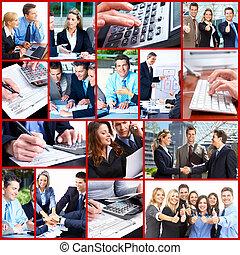 collage., persone affari