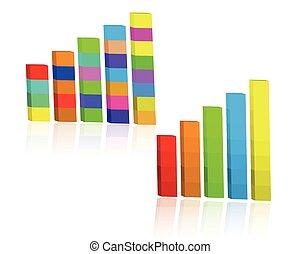 collection., statistica, tabelle, affari, grafici