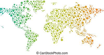 collegamenti, mondo, astratto, mappa