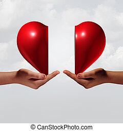 collegamento, amore