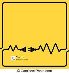 collegamento, concetto, electricity., sconnessione