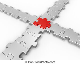 collegamento, puzzle