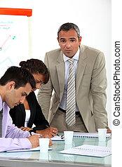 colleghi, addestramento, affari, professionale