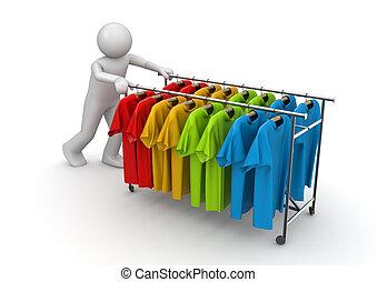 collezione, boutique, -, lavorante, promotore