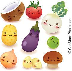 collezione, frutta, verdura