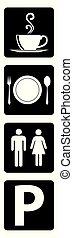 collezione, icona, restaurant., importante