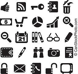 collezione, icons.
