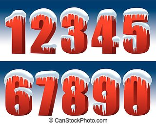 collezione, numeri rossi