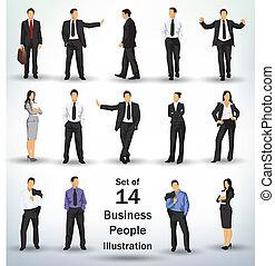 collezione, persone affari