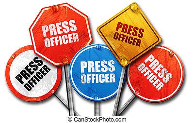 collezione, segno, ufficiale, strada, interpretazione, premere, ruvido, 3d