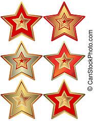 collezione, stelle, (vector)