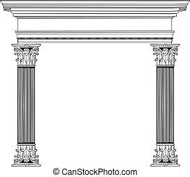 colonna, greco, arco
