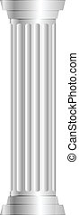 colonna, grigio, vettore, illustrazione