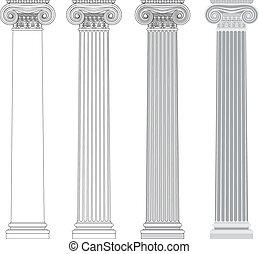 colonna, ionico