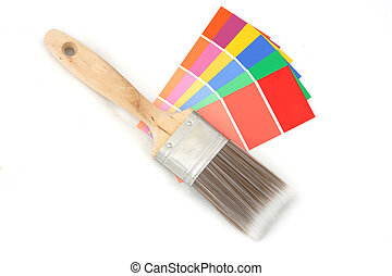colorare, 1, guida, spazzola