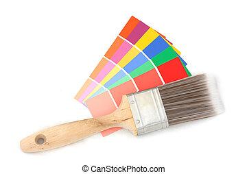 colorare, 2, guida, spazzola