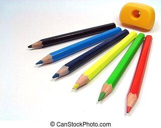 colorare, 2, matite