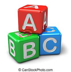 colorare, abc, cubi