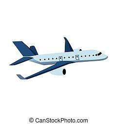 colorare, aeroplano, disegno, illustrazione