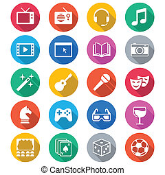 colorare, appartamento, intrattenimento, icone