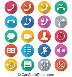 colorare, appartamento, telefono, icone