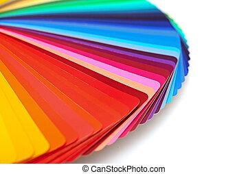 colorare, arcobaleno, tavolozza, isolato, bianco