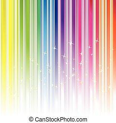 colorare, astratto, arcobaleno, fondo, stelle, striscia