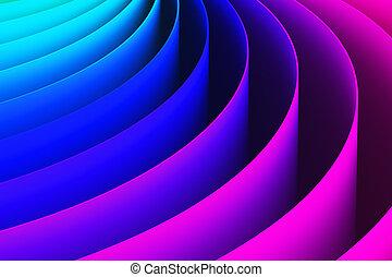 colorare, astratto, curva, forma, fondo, 3d