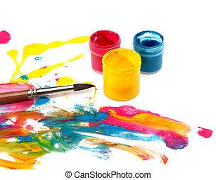 colorare, astratto, dolore, fondo