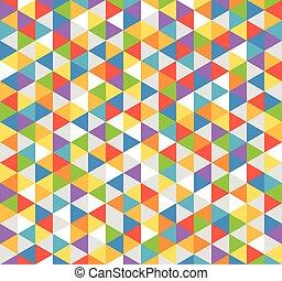 colorare, astratto, fondo, triangoli