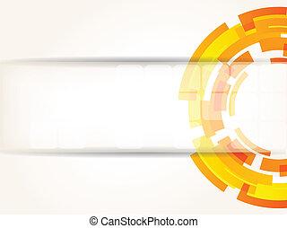 colorare, astratto, luminoso, tecnologia, fondo, arancia