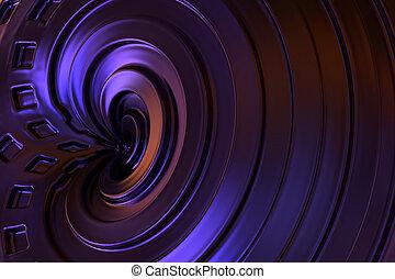 colorare, astratto, rendering., fondo., viola, 3d
