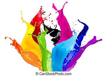 colorare, astratto, schizzi