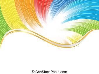 colorare, astratto, vettore, luminoso, fondo