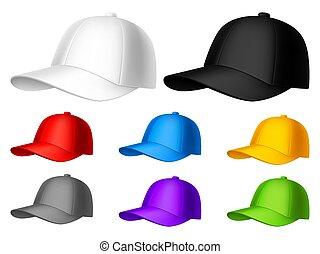 colorare, berretto, baseball