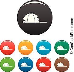 colorare, berretto, set, rap, icone
