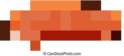 colorare, bruco, arancia