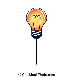 colorare, bulbo, silhouette, luce