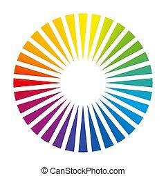 colorare, cerchio, ventilatore, rotondo, ponte