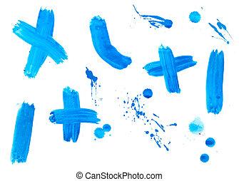 colorare, colpi, goccia, liquido, vernice