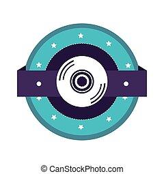 colorare, compact disc, silhouette