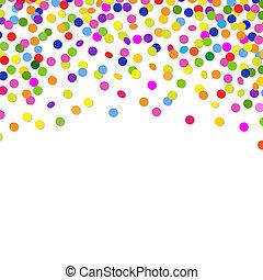 colorare, coriandoli, cornice