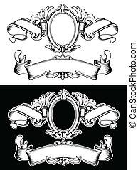 colorare, corona reale, uno, vendemmia, composizione