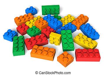 colorare, costruzione blocca