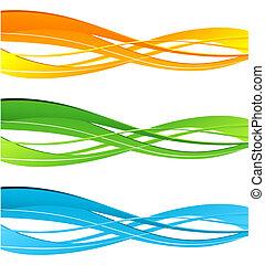 colorare, curva, set, linee, vettore, disegno, element.