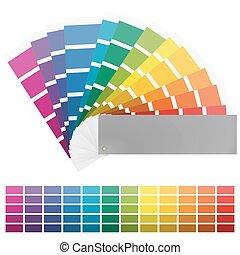 colorare, dodici, colori, ventilatore