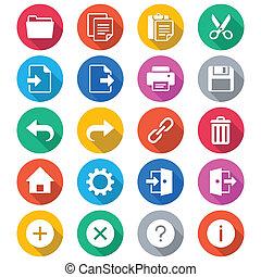 colorare, domanda, appartamento, toolbar, icone