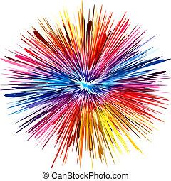 colorare, esplosione