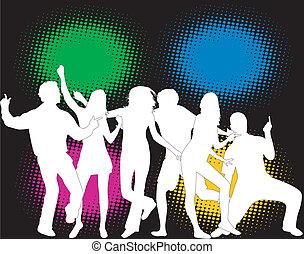 colorare, festa, -, persone fondo